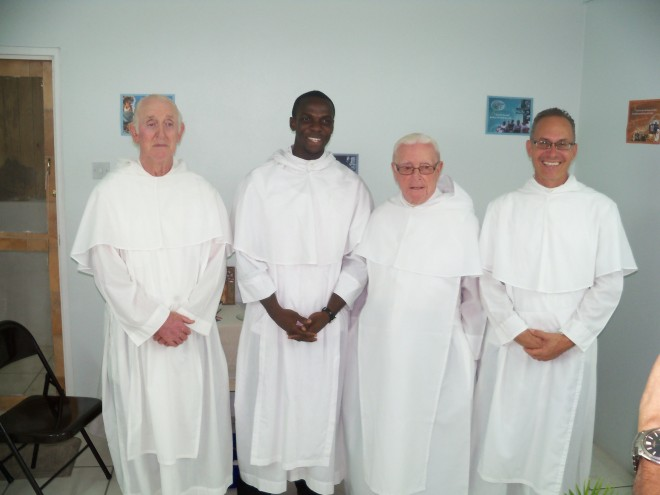 Br Matthias, Br Andrew (Temporary Professed), Br De Lellis and Br Robert.