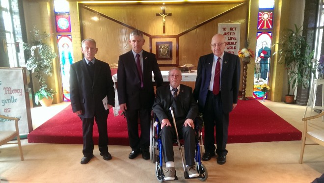 Our Jubiliarians Bros. Michael McKeown, Ultan Rohan, Roy Kennedy and Denis Sheahan