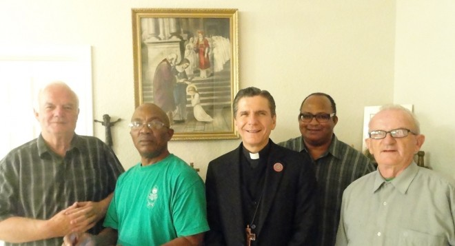 Our Brothers in San Antonio with Archbishop Gustavo Garcia-Siller.
