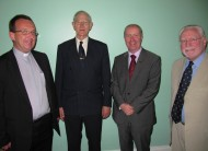 Fr Tom Deenihan (Chair, CLEO Board of Management), Br Matthew Feheney (CLEO Founder), Br Martin Kenneally (Congregation Leader, Presentation Brothers), Dr Frank Steele (Director, CLEO).