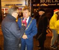 The Lord Mayor of Cork is interviewed
