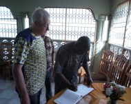 Signing the Visitor's Book at the Daughters of Charity Postulancy