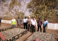 The Teams say a prayer at the Brothers' Grave yard - MSJ Logre