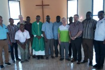 The ELT with Bishop Alfred after the Eucharist in the Novitiate chapel